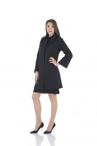 "Light black coat from ""cold"" wool fabric"