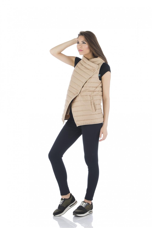 Beige padded vest