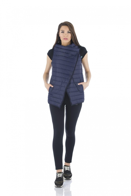 Navy padded vest