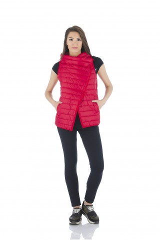 Red  padded vest