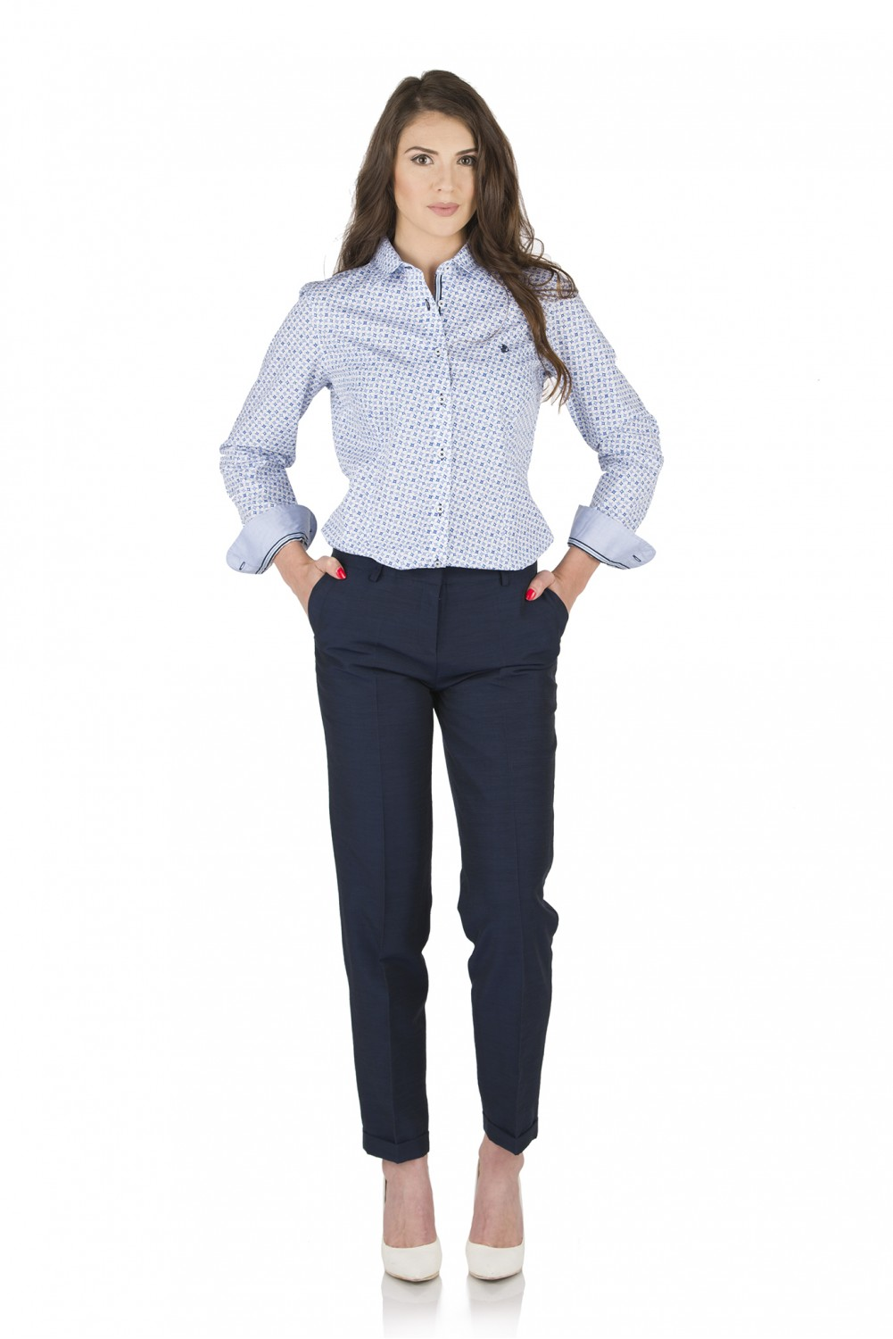 Cotton shirt with print 2