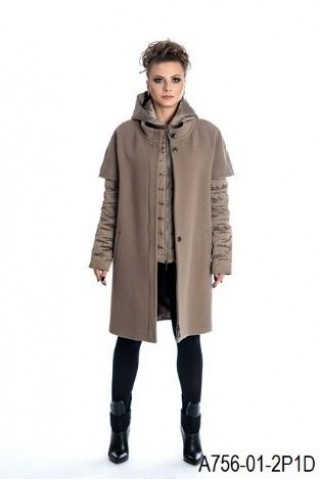 Two peace coat: wool coat and goose down filled  jacket