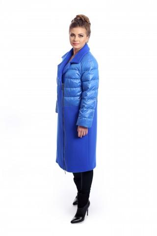 Royal blue combo coat