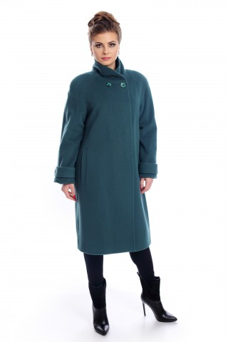Petrol green, wool coat