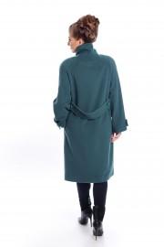 Petrol green, wool coat