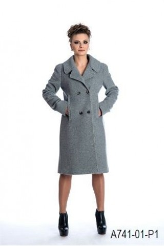 Straight lined wool coat