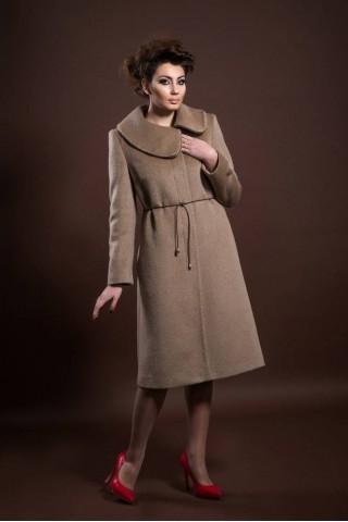 Wool / Mohair coat with beautiful asymmetric collar