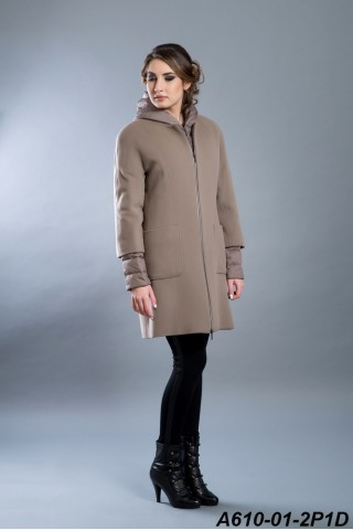 Two peace jacket: wool coat and goose down filled jacket