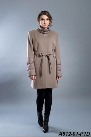 Wool mix-media coat