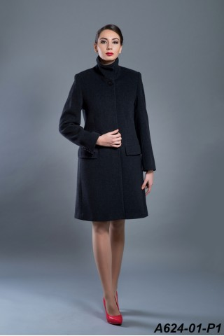 Straight lined iconic wool and cashmire coat