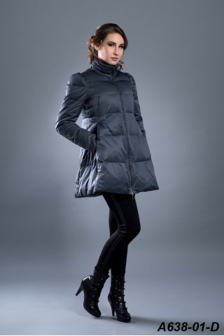 Down jacket with zipper